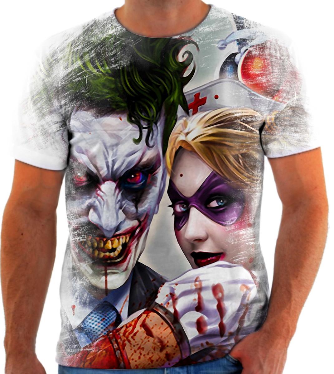 Camiseta Batman Coringa Arlequina Herói 47 ótima Qualidade No Elo7