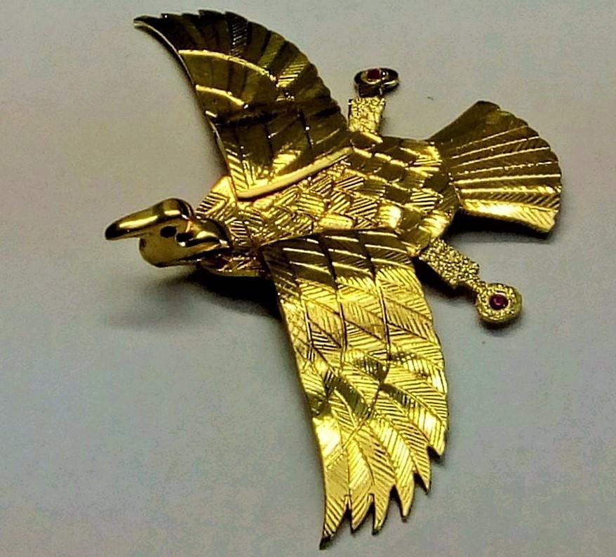 30e55cca954 Pingente Galinha de Angola PRATA com banho de ouro no Elo7