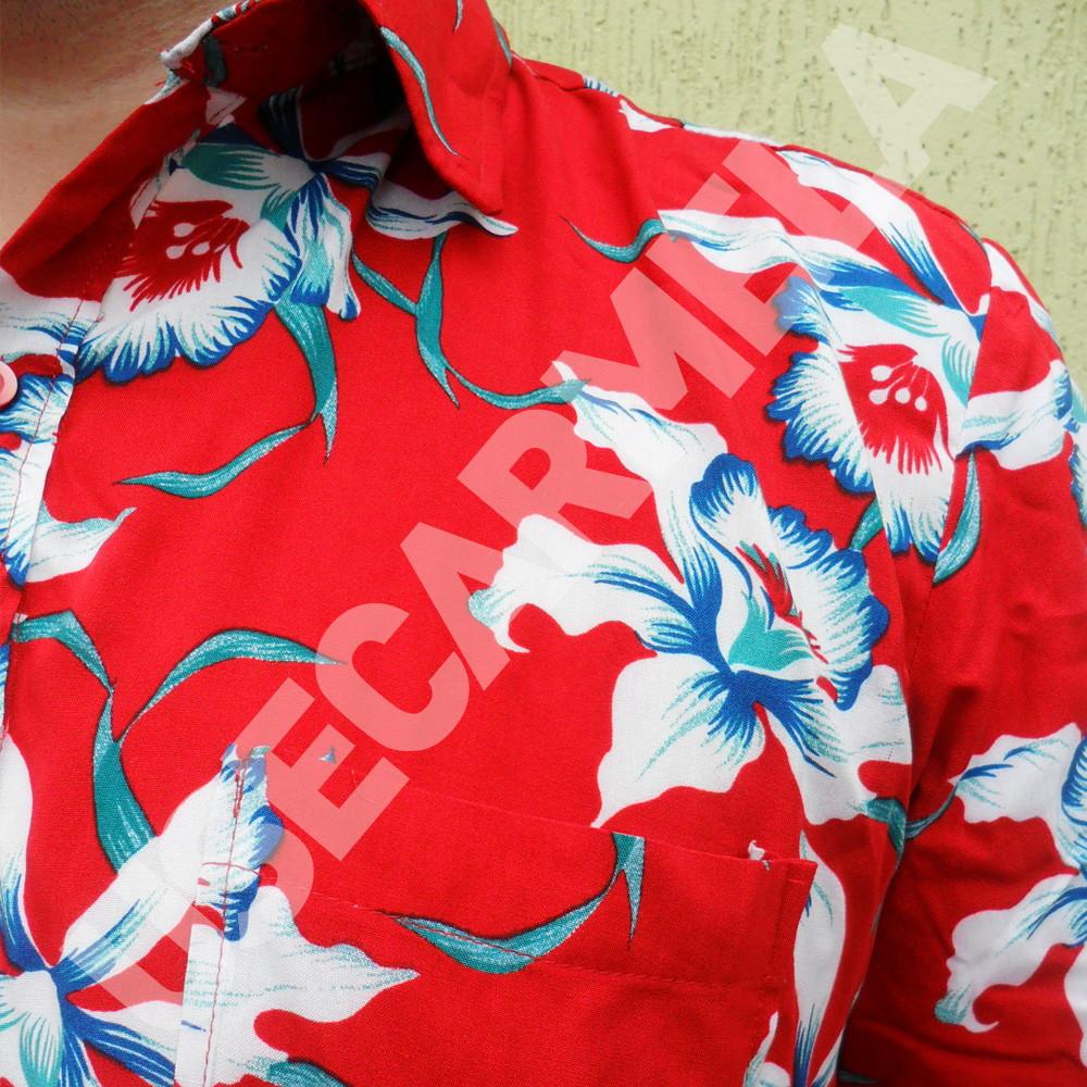 1be611b2a Camisa Masculina - Florida Vermelha no Elo7