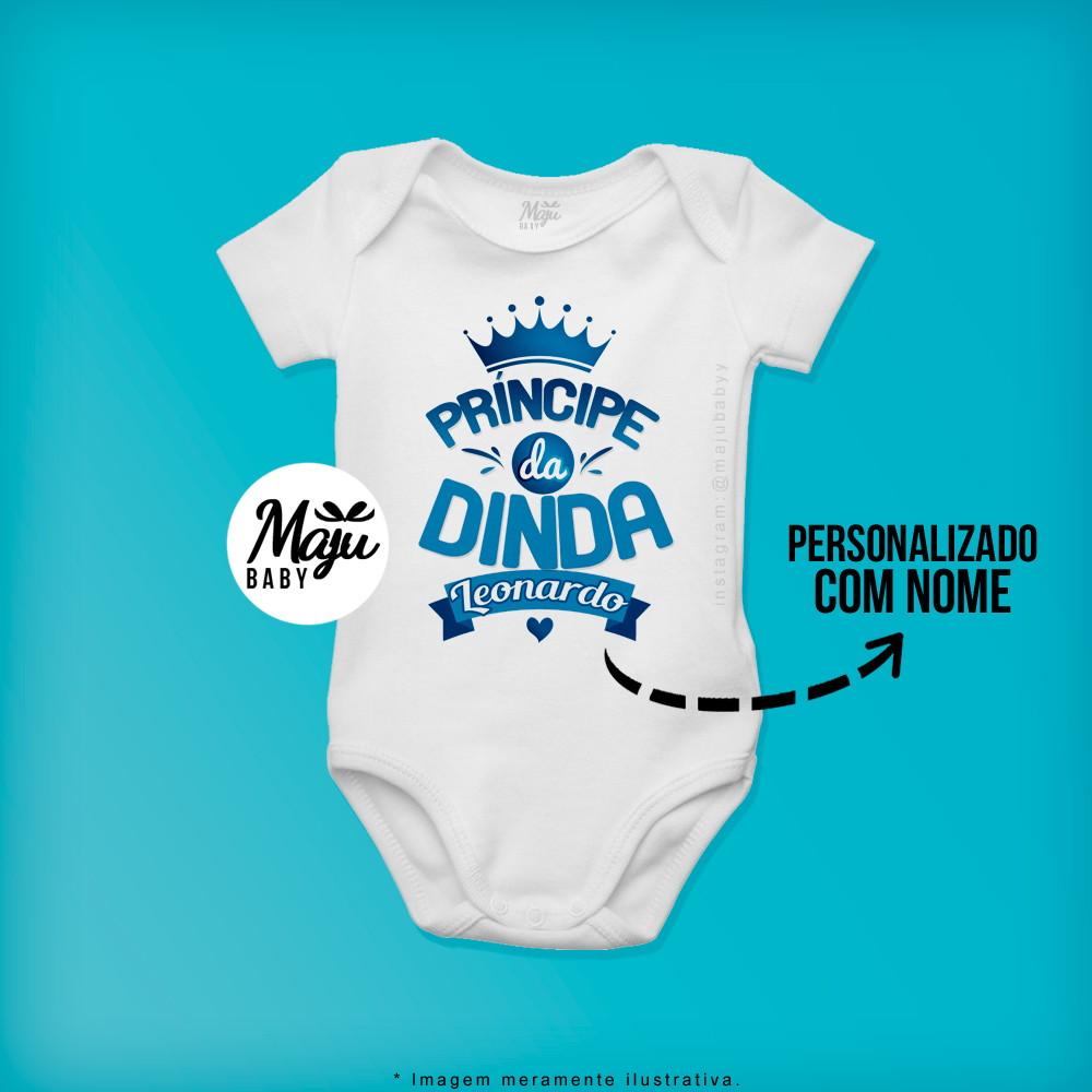 54b63e9ae0 Body Personalizado para Bebê - Sou o príncipe da Dinda no Elo7 ...