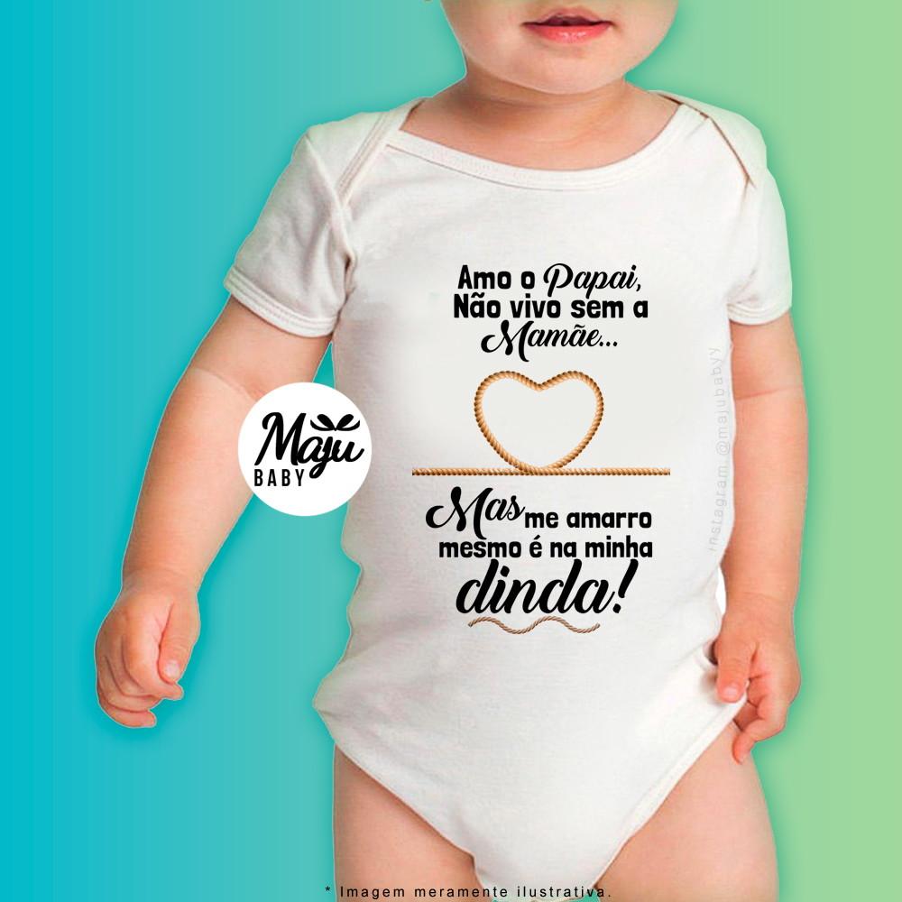 0bd3bf9eb9 Body Personalizado para Bebê - Me amarro na minha Dinda no Elo7 ...