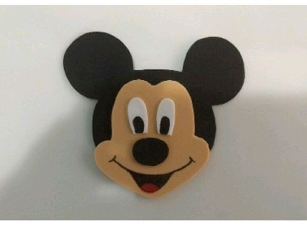 Rosto Mickey Em Eva 5 Unid No Elo7 A Doce Ternura B59981