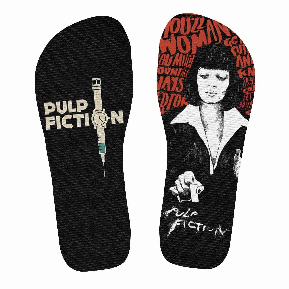 d77bea628 Chinelo Pulp Fiction | Mia Wallace no Elo7 | Rockstickers Presentes ...