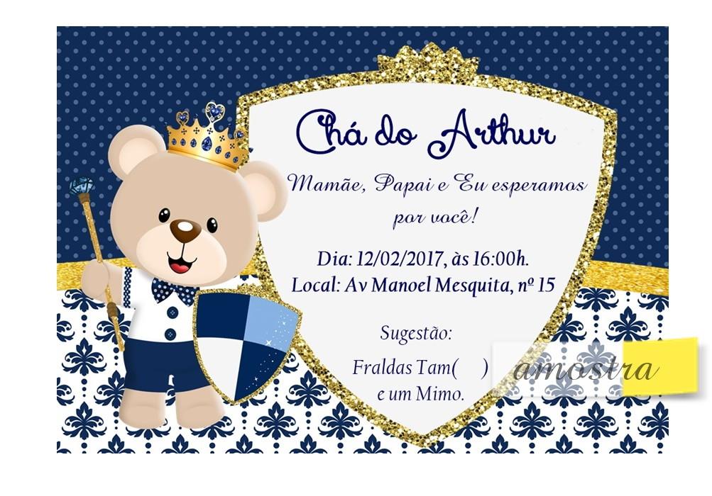 Convite Ursinho Principe No Elo7 Acriativa Presentes B5b897