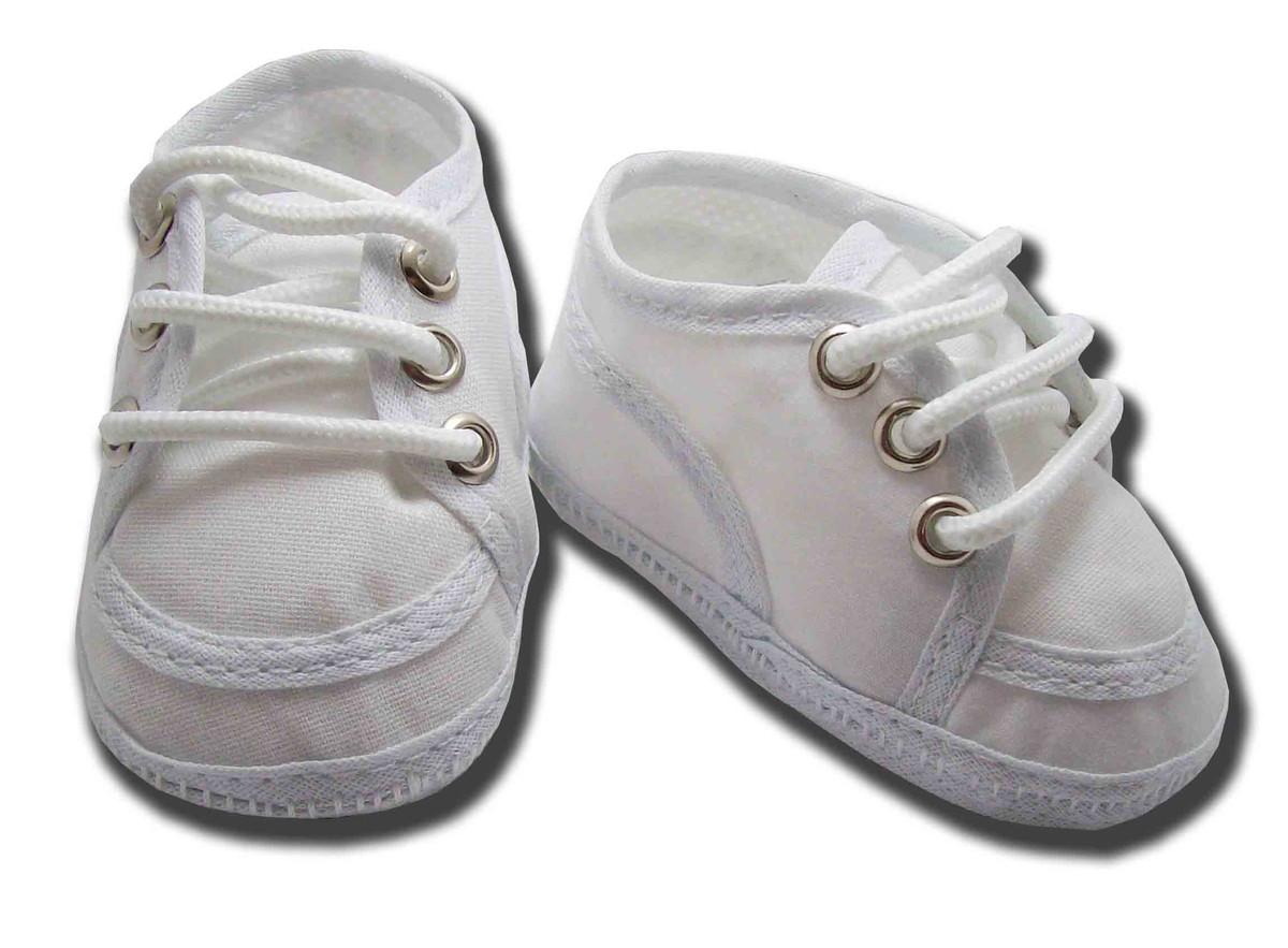 3ddda6d0b7 Sapatinho de bebê Tênis Branco no Elo7