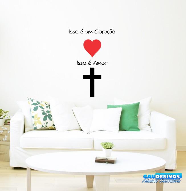4b32b5e16 Adesivo Decorativo de Parede Frases Amor de Deus no Elo7 ...