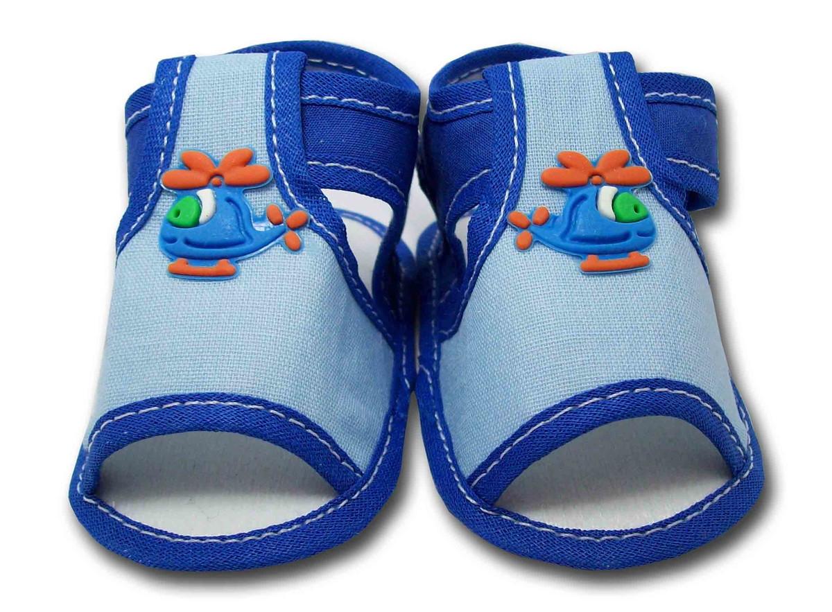 26d8b0a52 Sapatinho de Bebê Sandália Azul Claro e Azul Royal no Elo7 ...