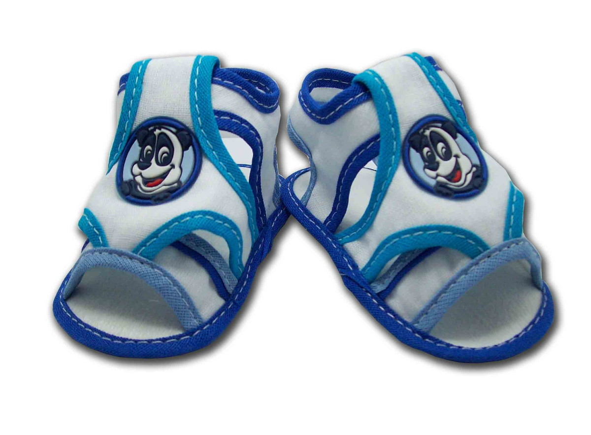534ea7135 Sapatinho de Bebê Sandália Azul e Branco no Elo7   Charminho Baby ...