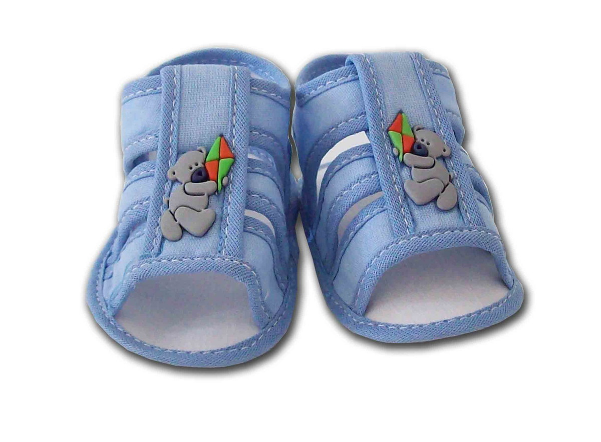 3c8ab75bf Sapatinho de Bebê Sandália Azul no Elo7   Charminho Baby (B62719)