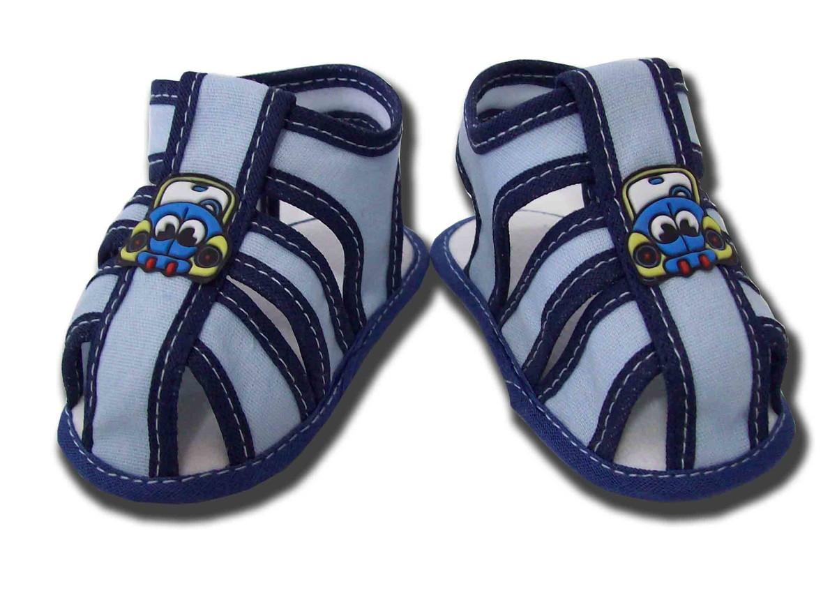 405aca498 Sapatinho de Bebê Sandália Azul no Elo7   Charminho Baby (B63F2A)
