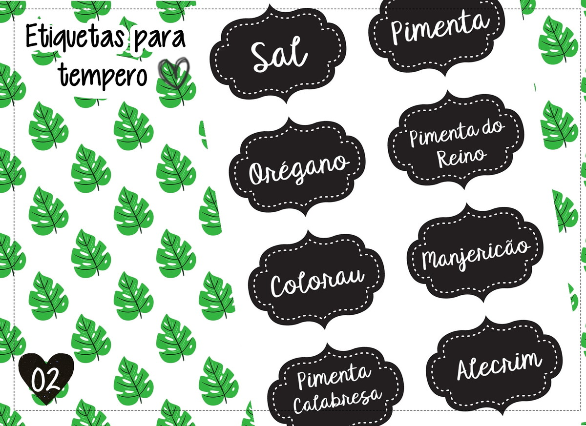 Etiqueta Para Tempero Kit Digital No Elo7 Atelie Da Sua Festa