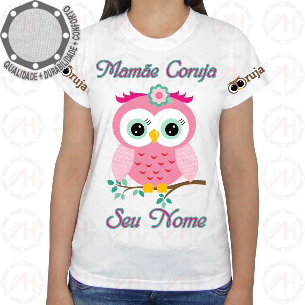 d5674a5331 Camiseta Coruja Camisa Mamãe Coruja Ah01216 no Elo7