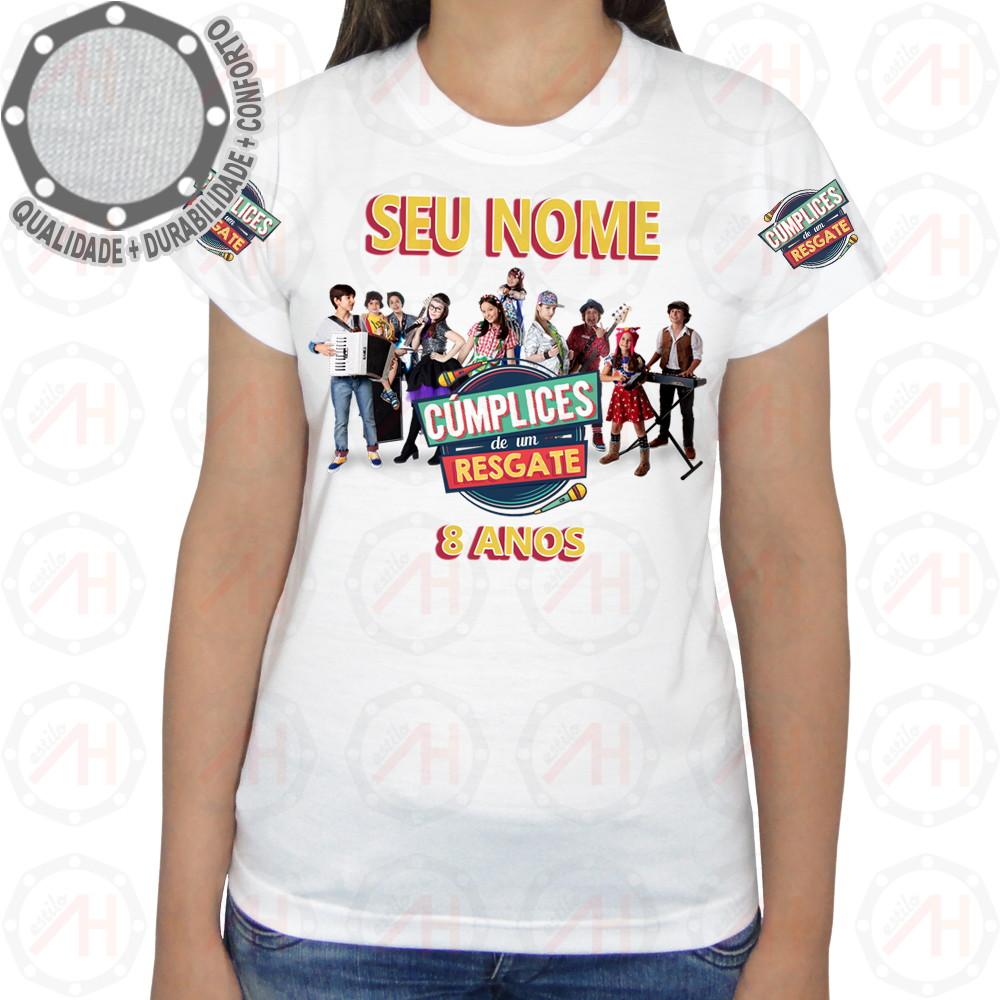 Camiseta Cúmplices de um Resgate Camisa Ah01221 no Elo7  fe5beb91394b6