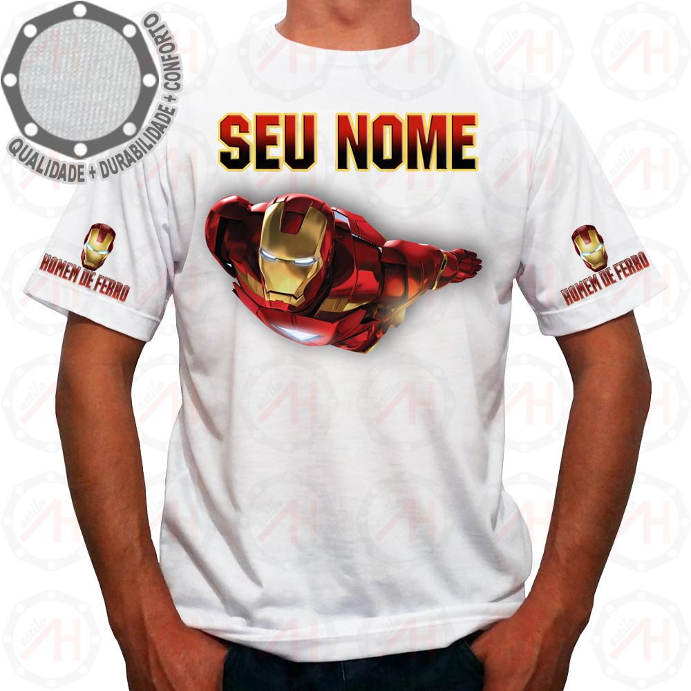 1a639fd1a4 Camiseta Homem de Ferro Camisa Iron Man Ah01251 no Elo7