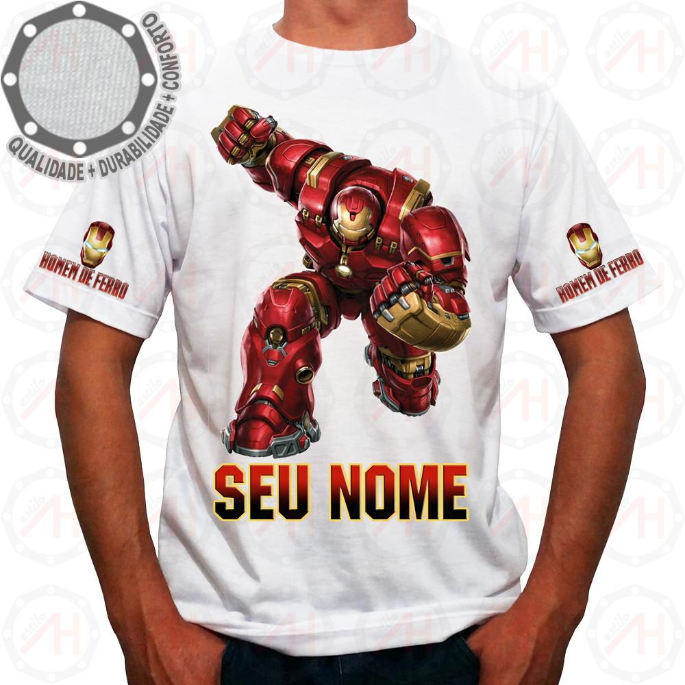 22278b09d9 Camiseta Homem de Ferro Camisa HulkBuster Ah01252 no Elo7
