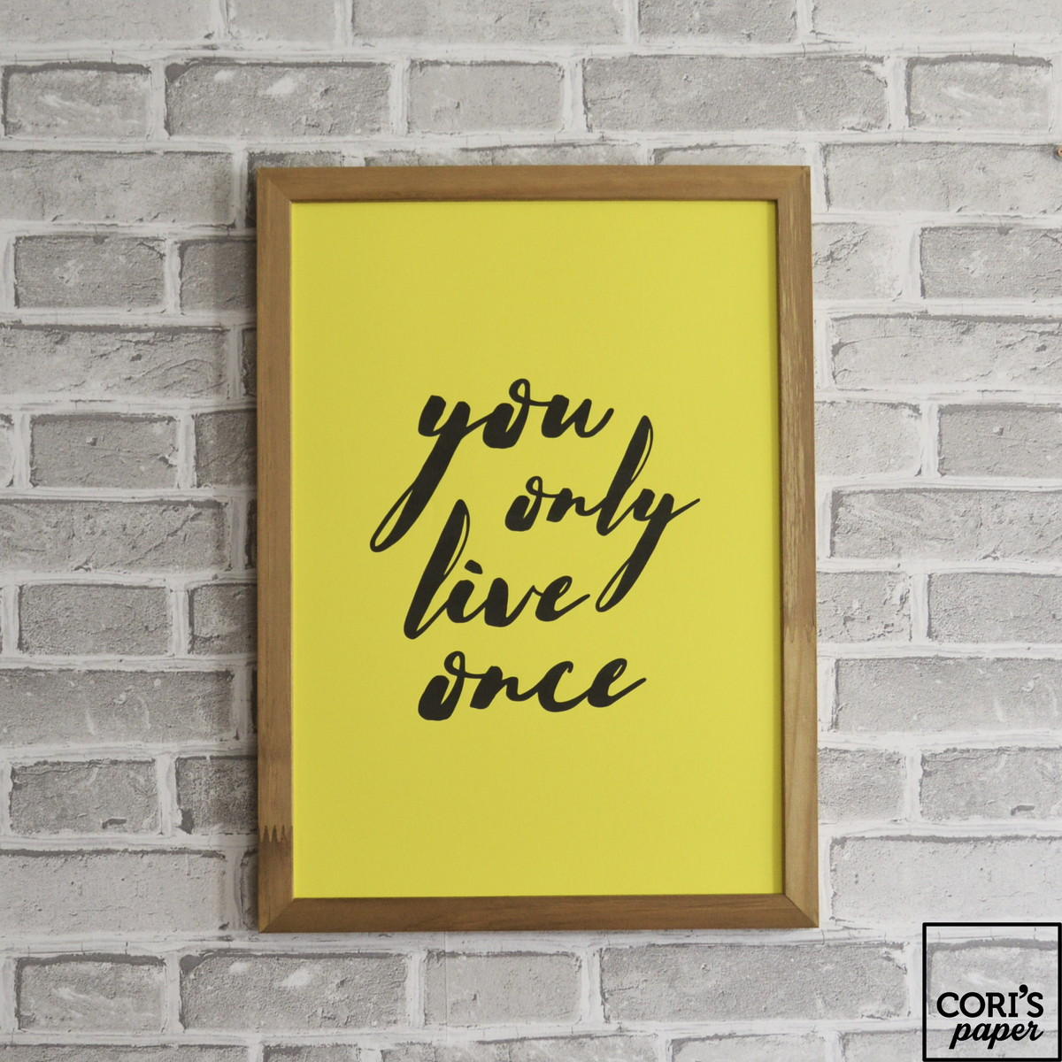 Poster A4 - Color Block You Only Live Once