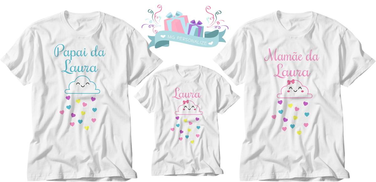 3aae03ac8 kit de camiseta chuva de amor benção kit 3 peças no Elo7