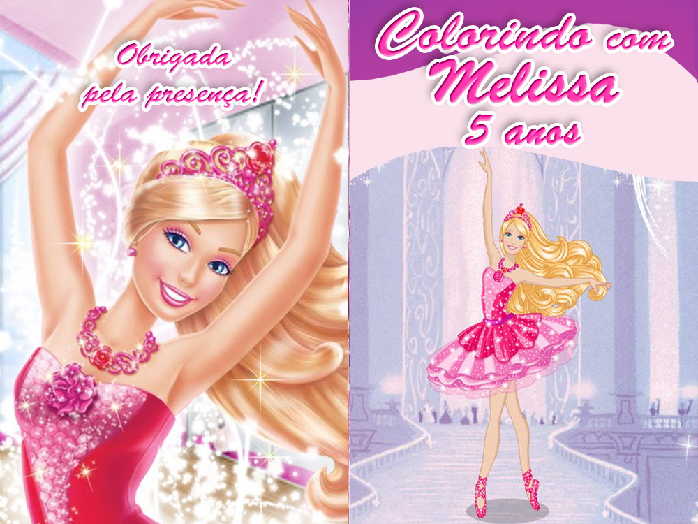 Revista Barbie Bailarina 14x10 No Elo7