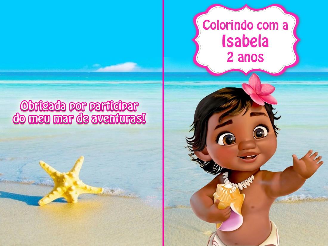 Revista De Colorir Moana Baby 14x10 No Elo7