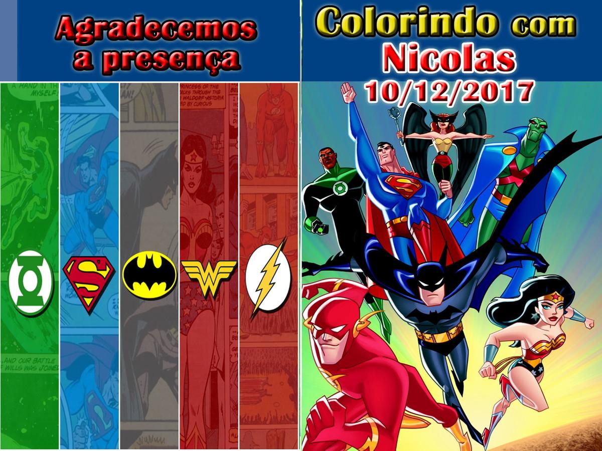 Revista Colorir Liga Da Justica 14x10 No Elo7 Tudo De Festa
