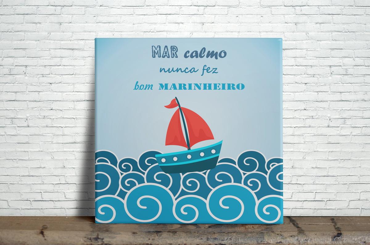 Azulejo Decorativo Mar Calmo Nunca Fez Bom Marinheiro No Elo7