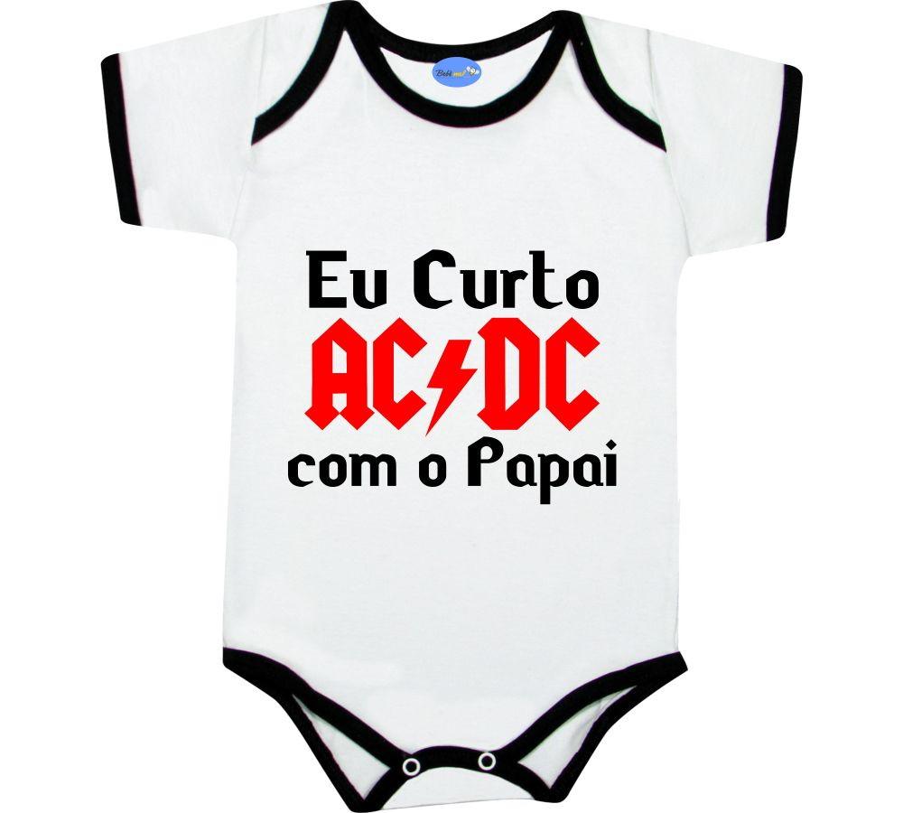 Body de Bebê Rock Banda ACDC com o Papai no Elo7  0483ee2a970