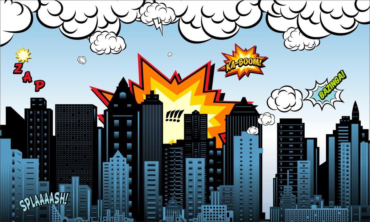 Painel 2x1 Cidade Dos Herois No Elo7 Festa Expressa B6fc53