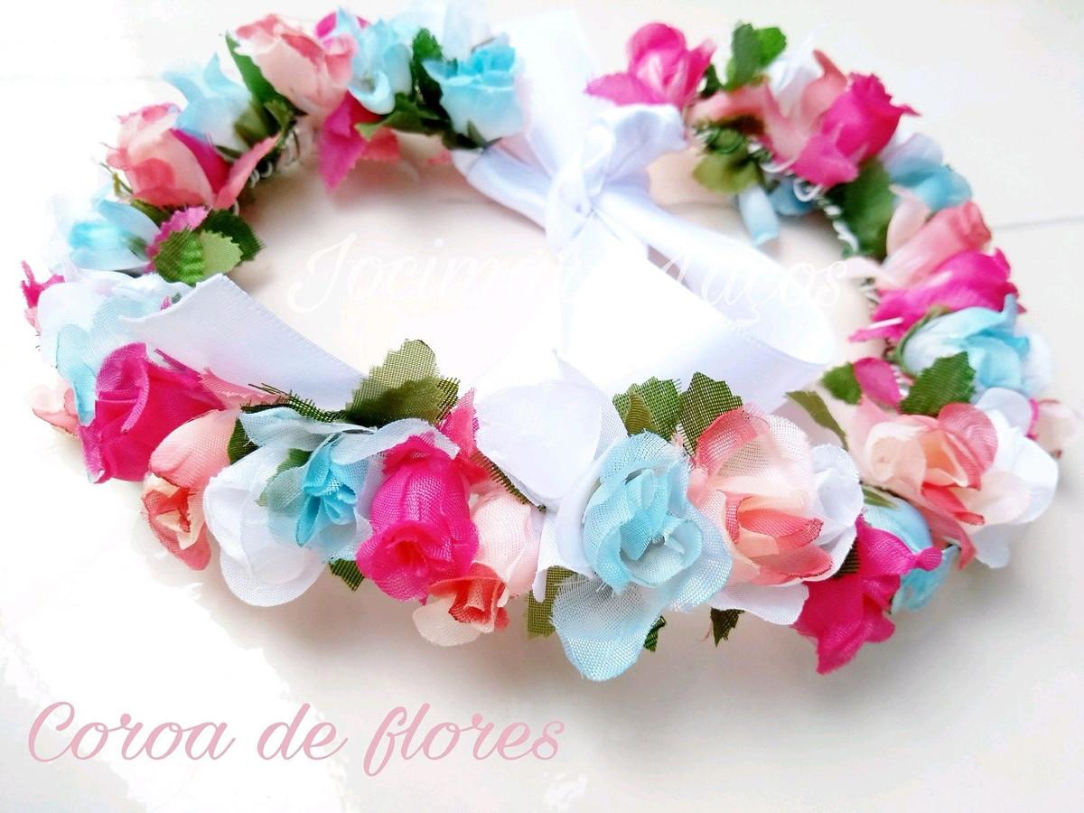 Coroa de flores no Elo7   Jocimara Laços (B705E8) 94cb712828
