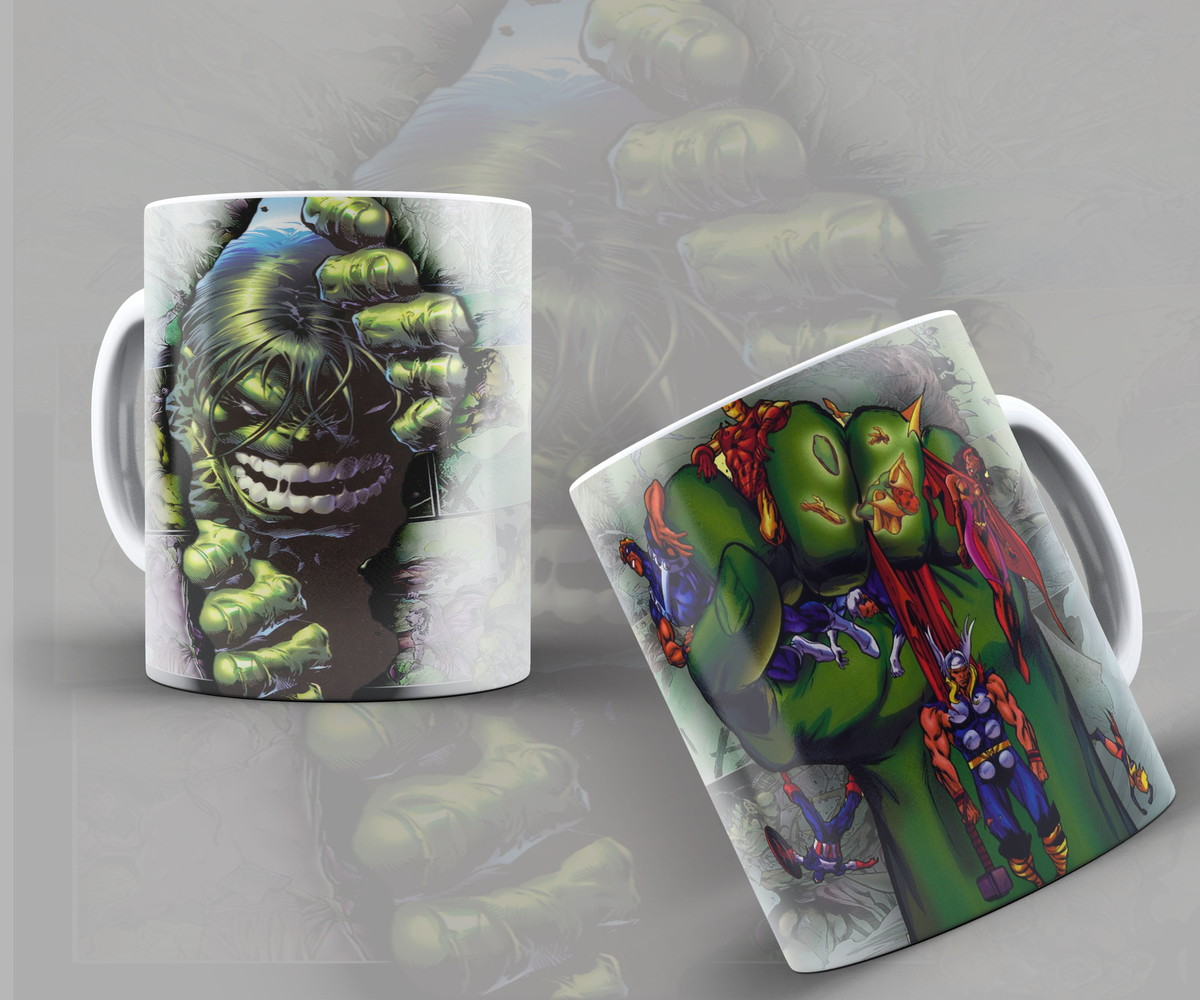 Incrivel Hulck Classy caneca incrível hulk zangado esmaga vingadores + brinde   ateliê