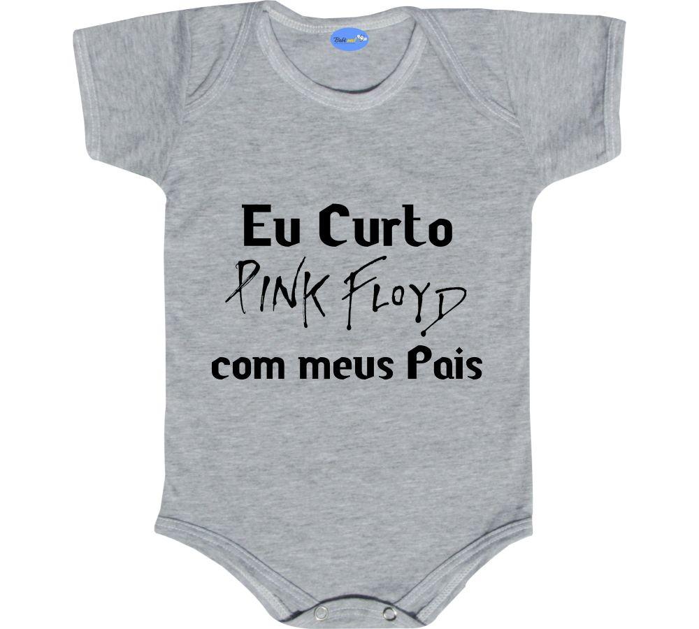 a6c99855be917 Body Rock Bebê Banda Frase Curto Pink Floyd com meus pais no Elo7 ...