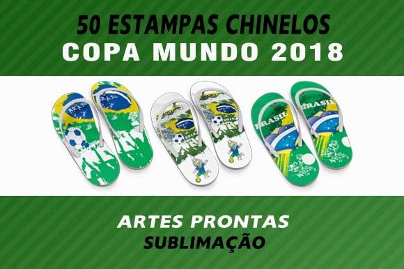 0b16d9688 Estampas Chinelos Copa Mundo 2018 Artes Sublimação no Elo7 | Laura ...
