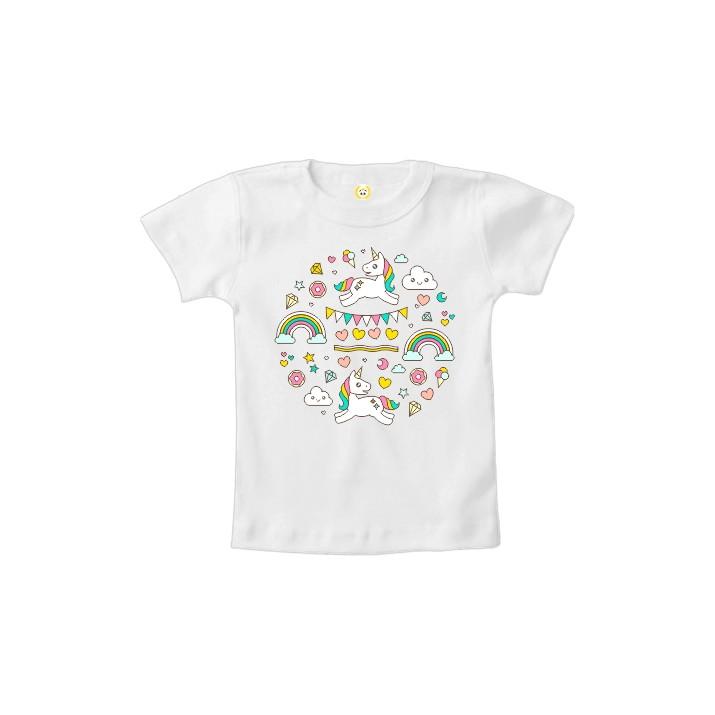 62a42ff68133c Camiseta INFANTIL OU Body Unicornio Mágica no Elo7