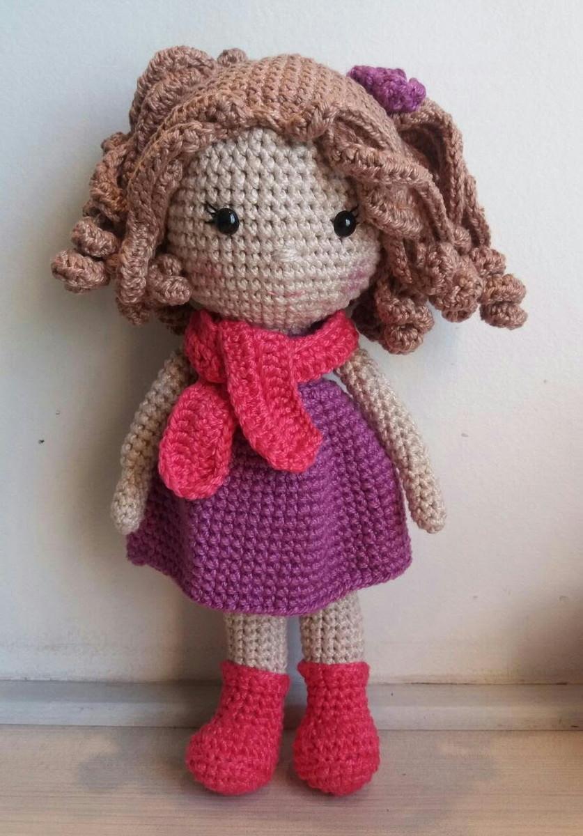 Como faço os cabelos cacheados das minhas bonecas – Bonek de Crochê | 1200x837