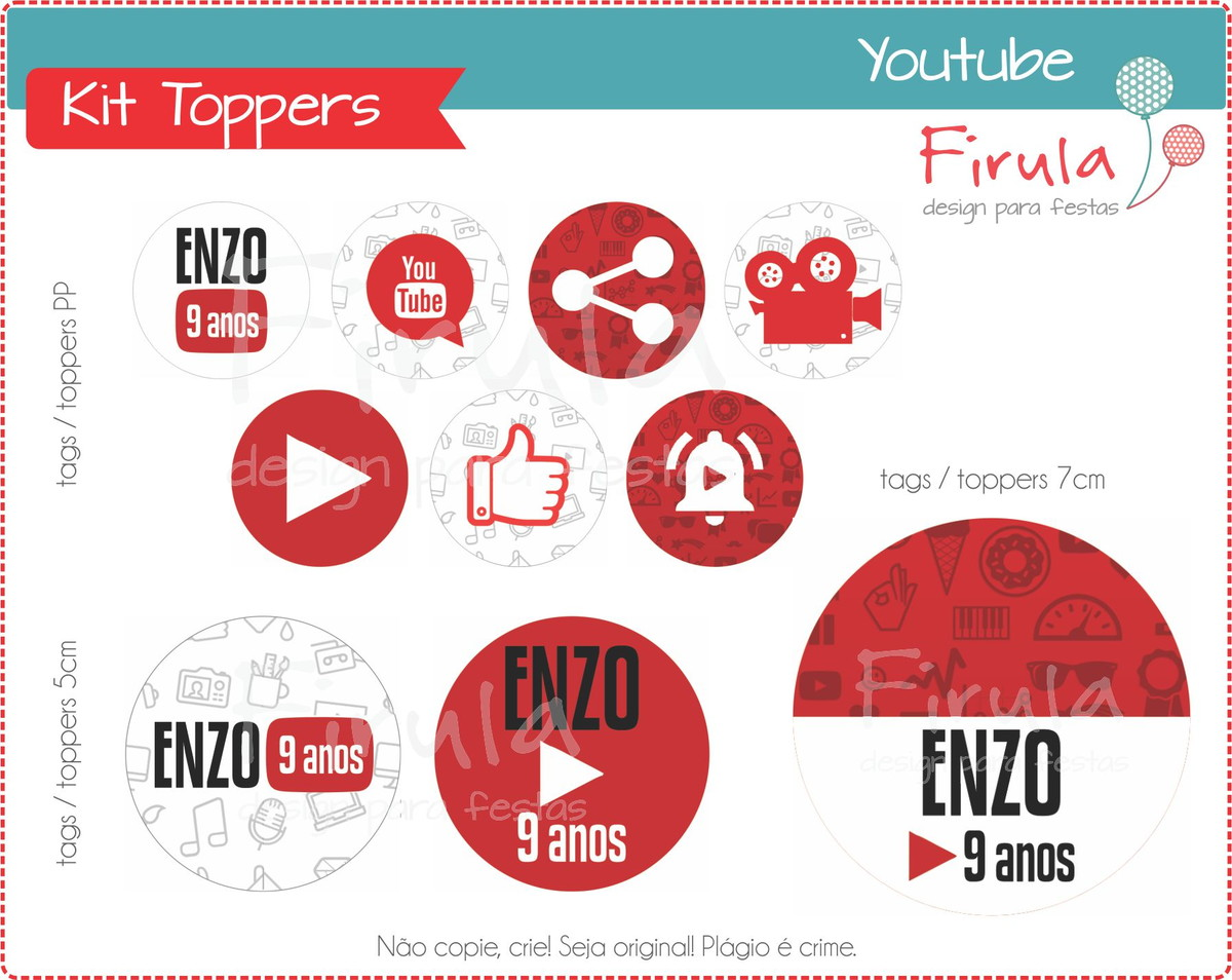 Kit Toppers / Tags Youtube