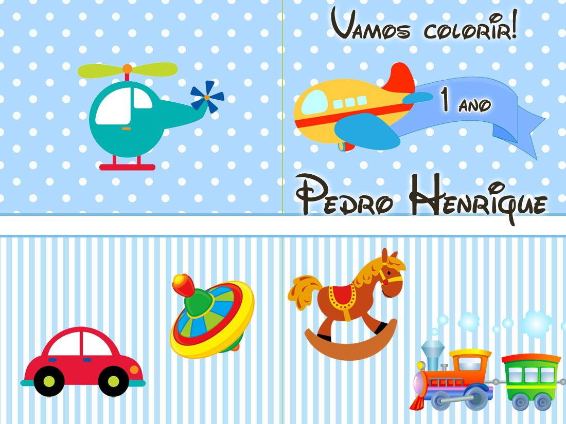 Revista Colorir Brinquedos 14x10 No Elo7