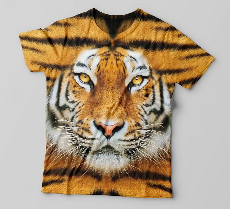 5d87876302120 Camiseta Tigre 3D no Elo7 | Stamp sua Ideia (B758C4)