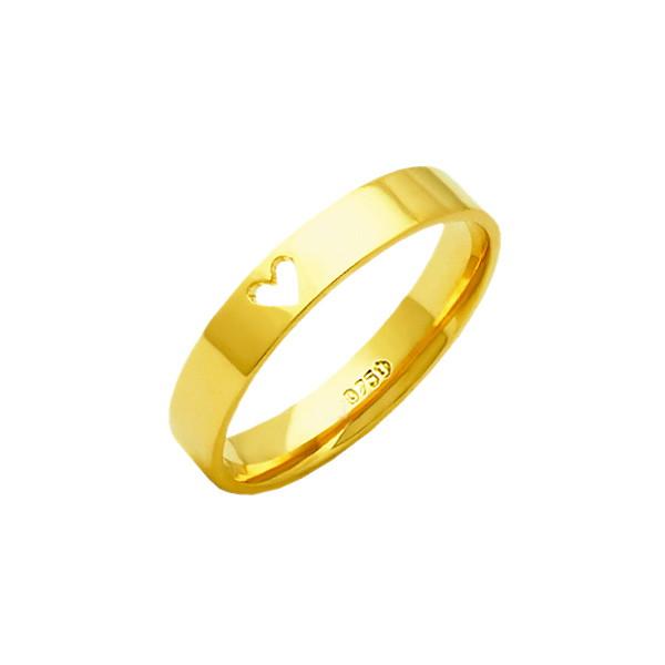 56cba421d5e Aliança First Love de Ouro 18K ZAE188 no Elo7