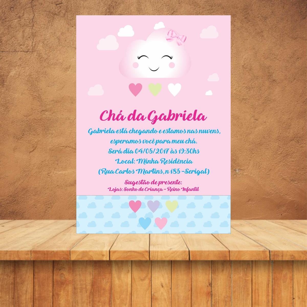 Convite Chá De Bebê Chuva De Amor No Elo7 Evoluart Soluções