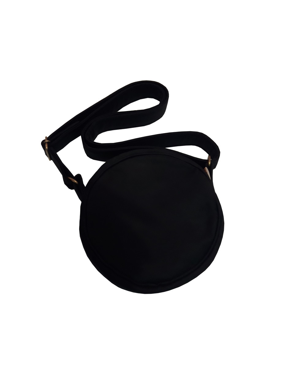 bcdbdc2f5 Bolsa Redonda Tiracolo Pequena Preta no Elo7 | Brigitte Bags (B78AB6)