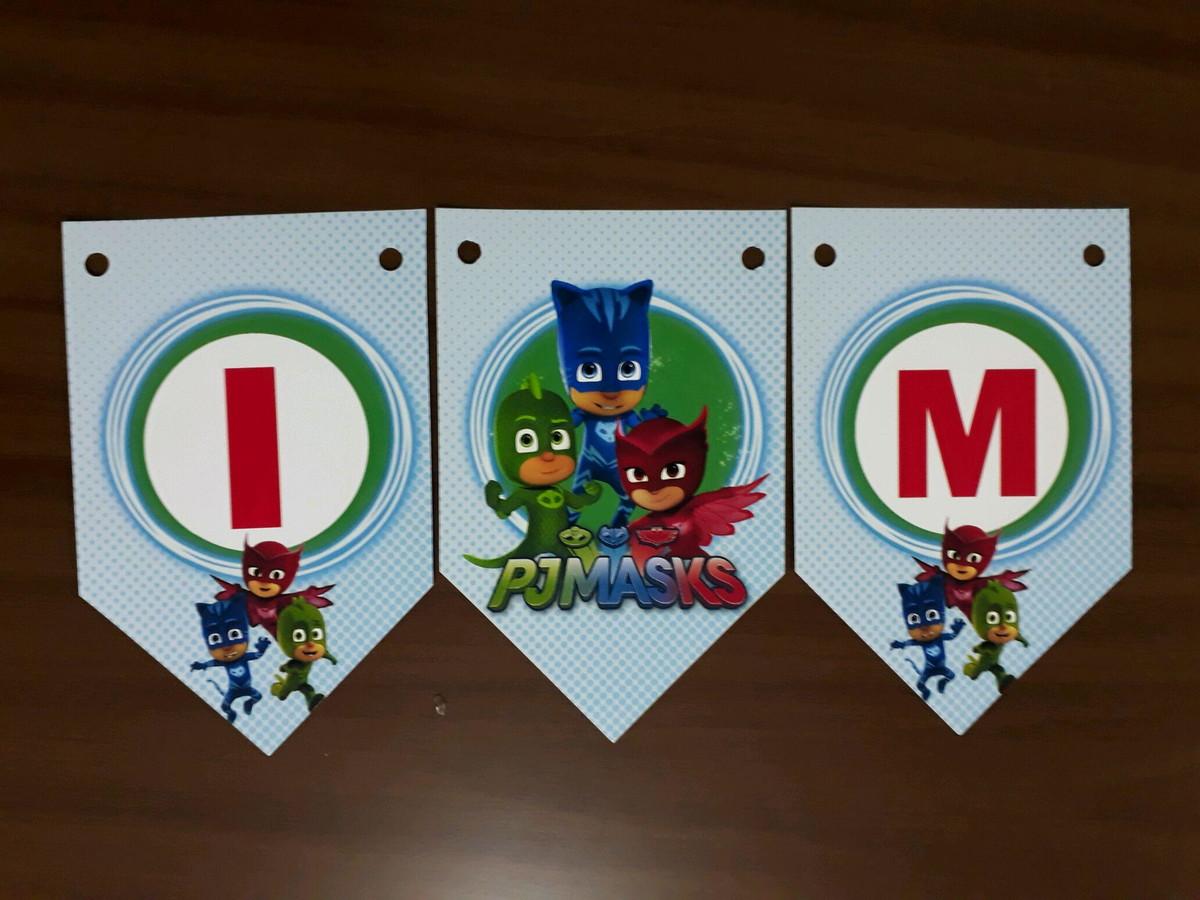 Bandeirola Pj masks no Elo7  1598b950c242d