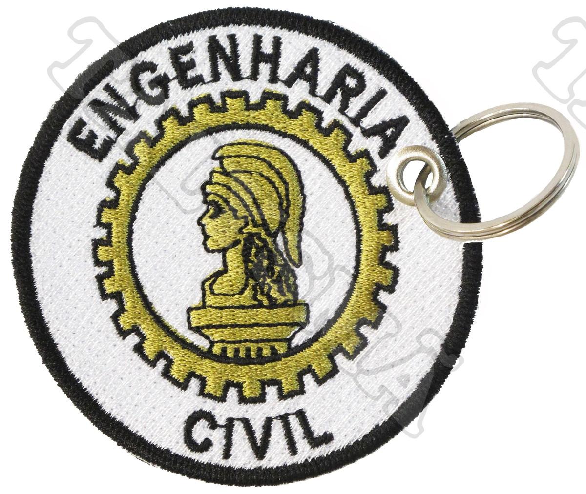 4842a7674a Zoom · Chaveiro Patch Bordado -Engenharia Civil AP00062