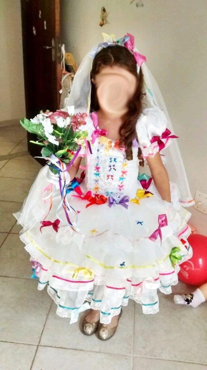 c3a29db848 vestido de noiva festa junina luxo no Elo7