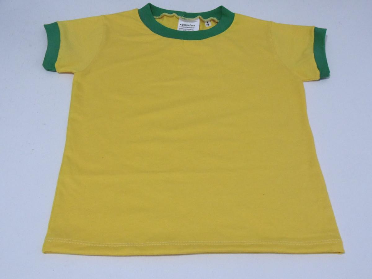 259e238cc6c44 Camiseta do Brasil Lisa para bebê P M G GG - amarela x verde no Elo7 ...