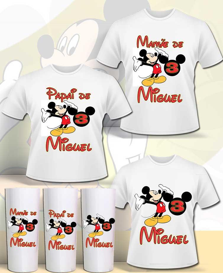 cb00f73dba77 Kit Camisas familia Mickey no Elo7   danilo sores (B80BF0)