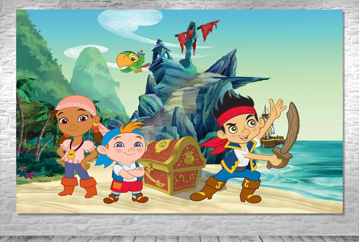 Painel Jake E Os Piratas Da Terra Do Nunca Frete Grátis