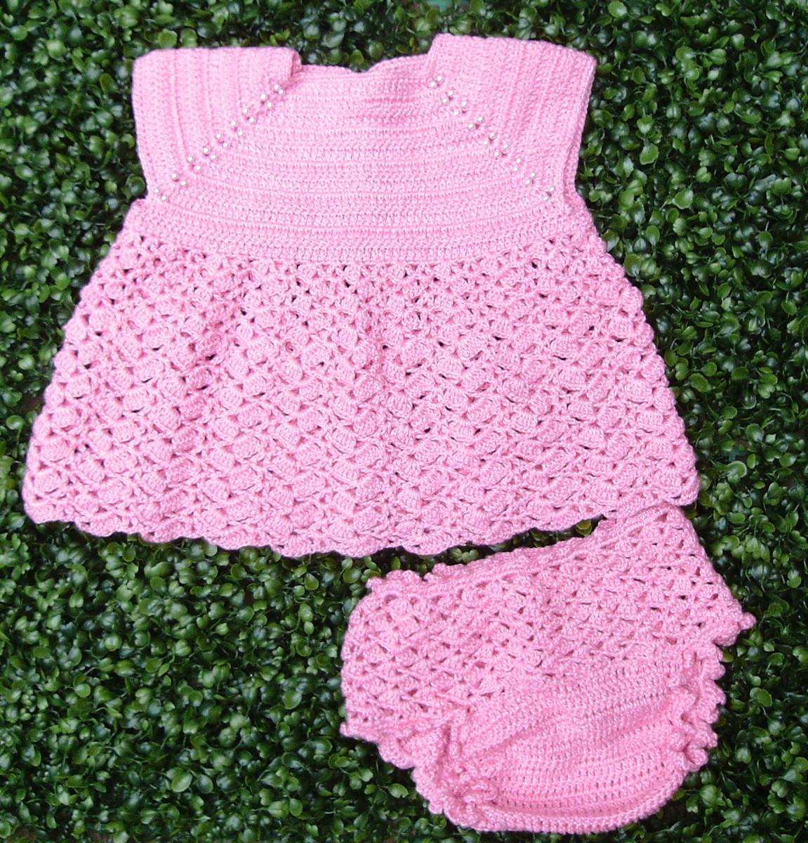 40ed63e0fbdd Kit Vestido e Calcinha em crochê - 0 a 1 mês no Elo7   Magazine do ...