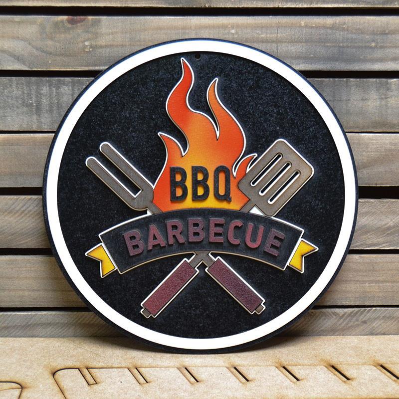 Placa Alto Relevo Decoração Barbecue 44cm No Elo7 Talharte Arte