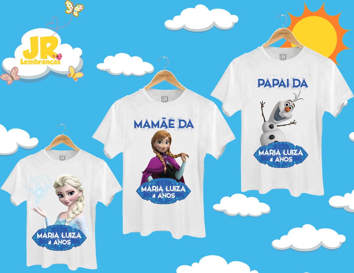 9f82c01acf Kit 3 Camisetas Personalizadas Frozen no Elo7