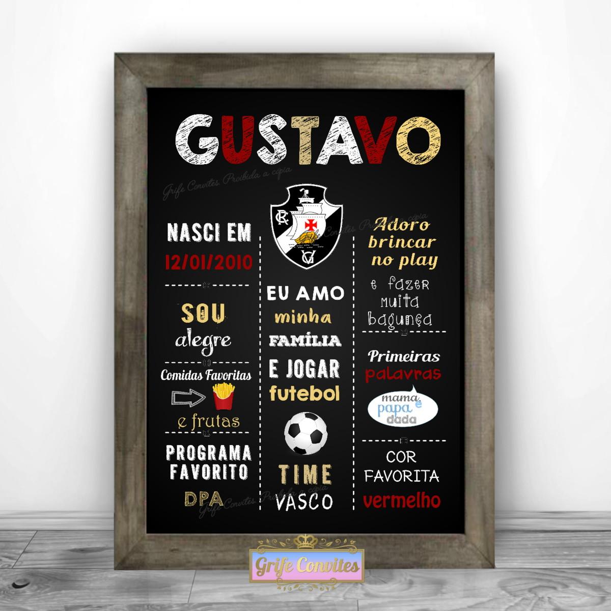Chalkboard Vasco - Arte para Imprimir no Elo7  ddc99cb7982d9