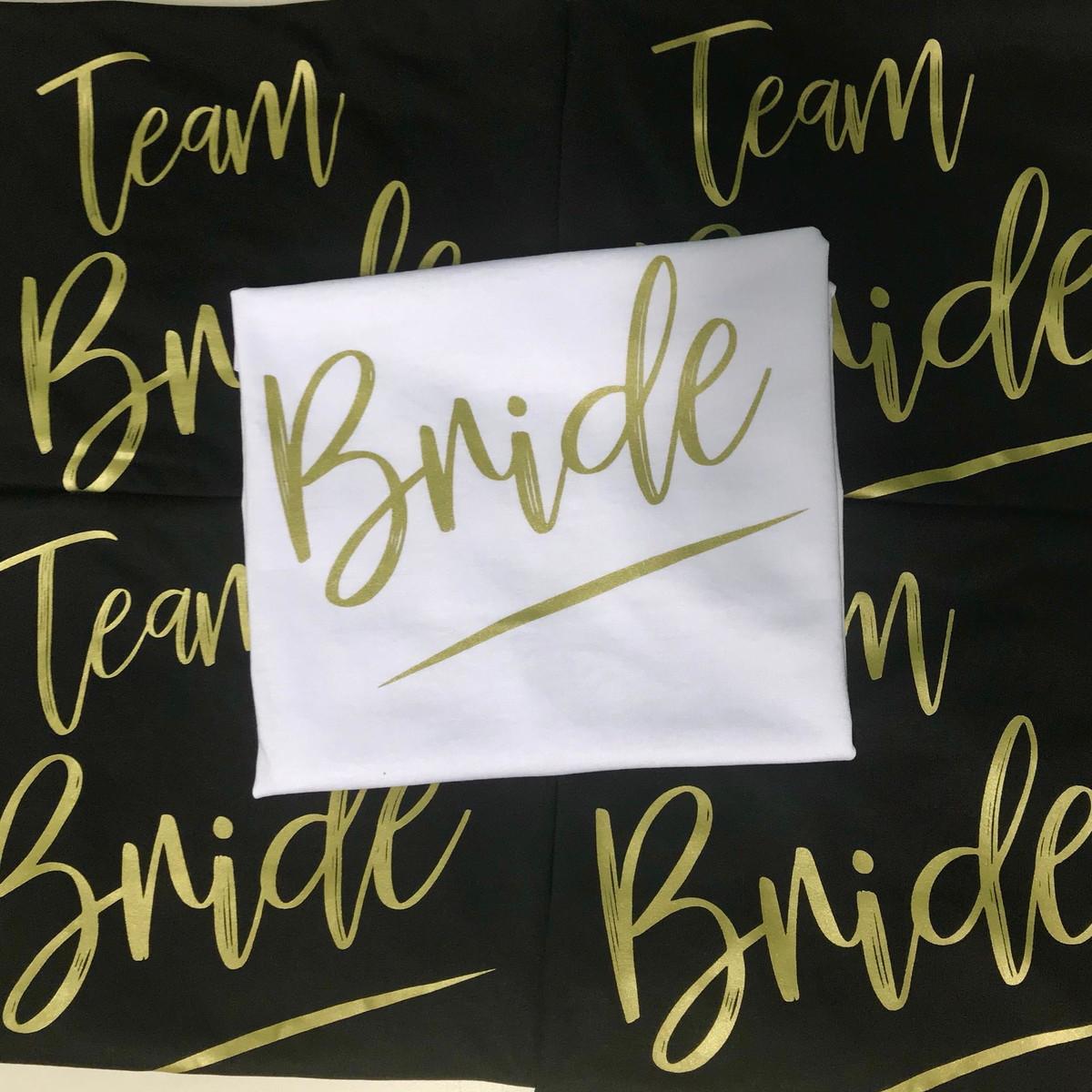 b856f9290 Camiseta Regata Despedida Solteira Team Bride no Elo7